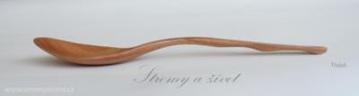 Dřevěné třešňové lžíce