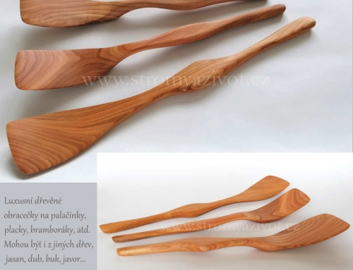 NOVINKA – Dřevěné vařečky a obracečky
